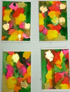 4 floral gift tags
