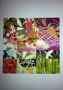 Japanese Paper Collage Card