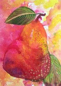 Watercolour Pear #2