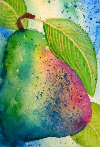 Watercolour Pear #1