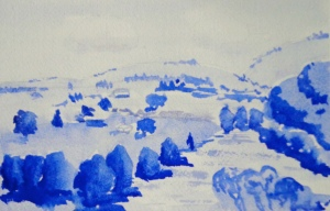 Ultramarine Blue River Study
