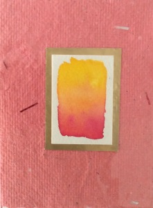 Handmade Paper and Watercolour #1