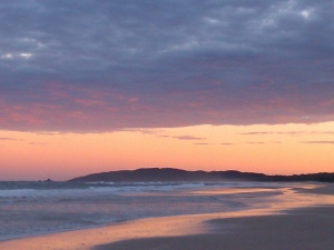 Photo Sunrise Tallows Beach Byron Bay